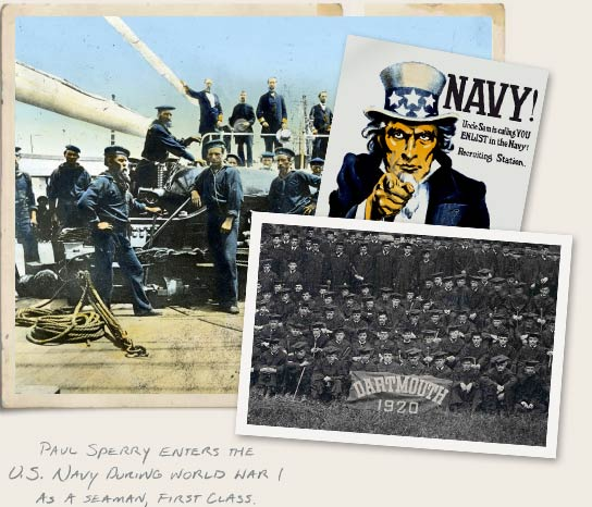 Paul Sperry enters the US Navy During World War I as a seaman, first class
