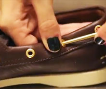 Watch how to relace a your boat shoe.