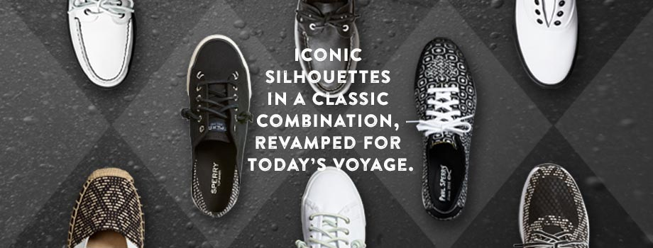 Iconic Silhouettes In A Classic Combination, Revamped For Today's Voyage.