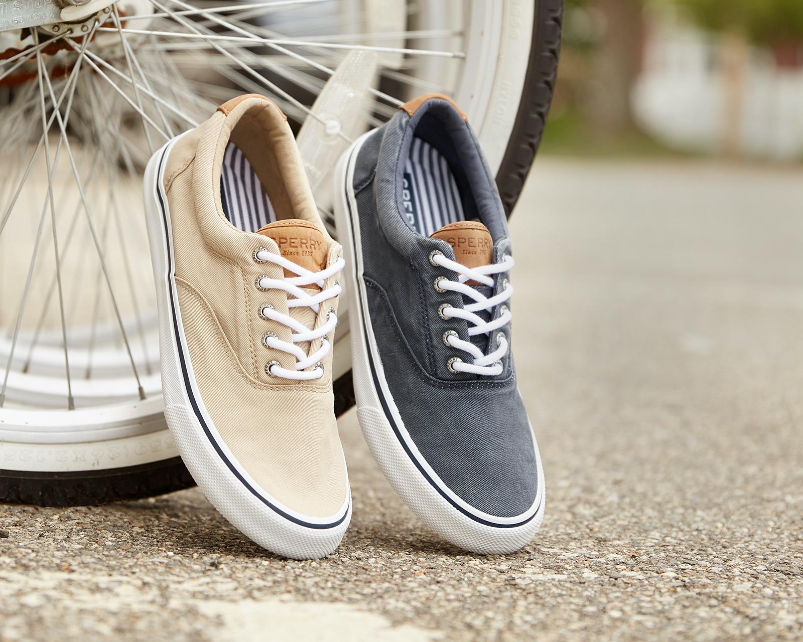 Sperry sneakers.