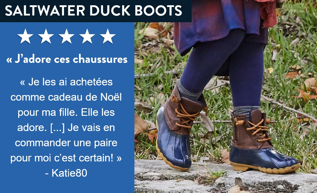 Saltwater Duck Boots for kids.