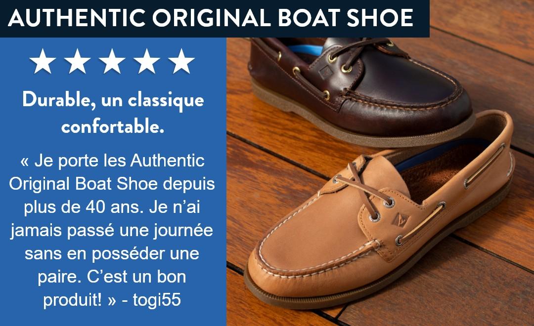 Authentic Original Boat Shoe.