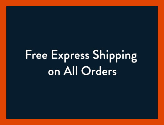 Free ground shipping. Every order. Everyday. Free express shipping on all orders.