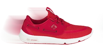 Sperry 7-seas in red