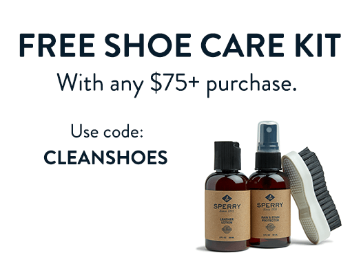 Free Shoe Care Kit With any $75+ purchase. Use code: CLEANSHOES