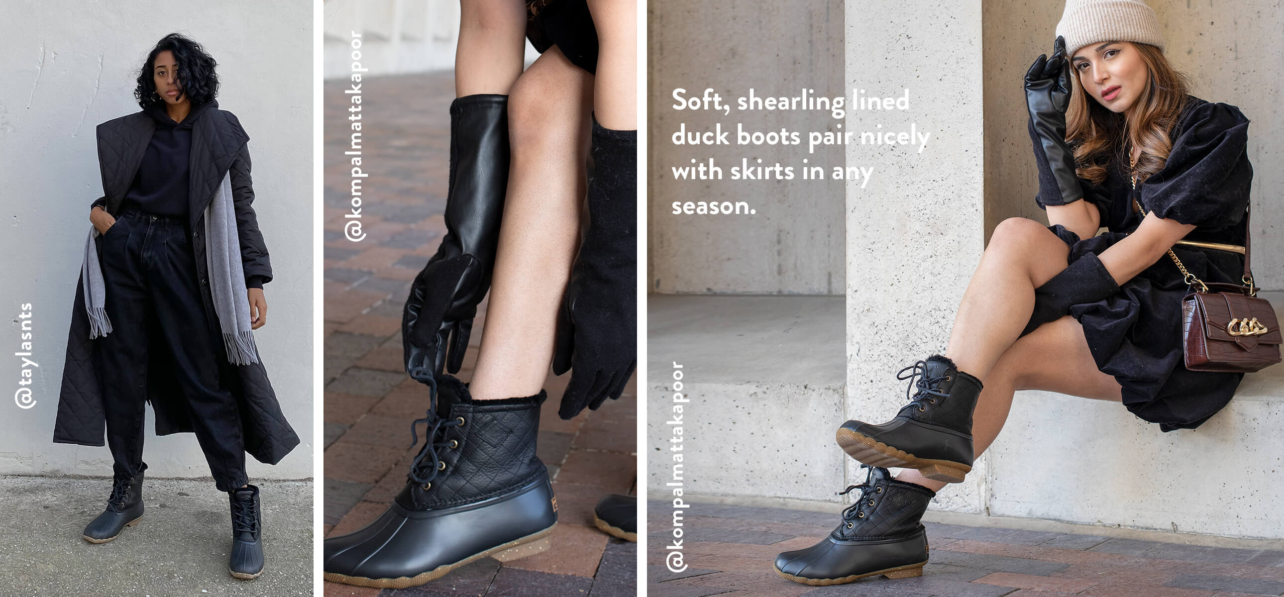 2 girls looking stylish in Sperry boots. @taylasnts and @kompalmattakapoor.