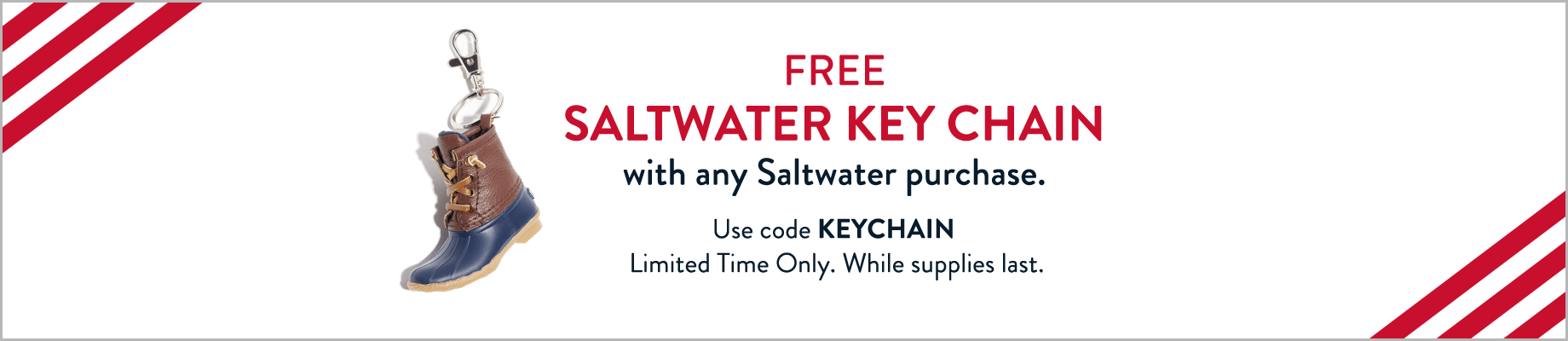 FREE Saltwater Key Chain with any Saltwater purchase | Use code KEYCHAIN | Limited Time Only. While supplies last.