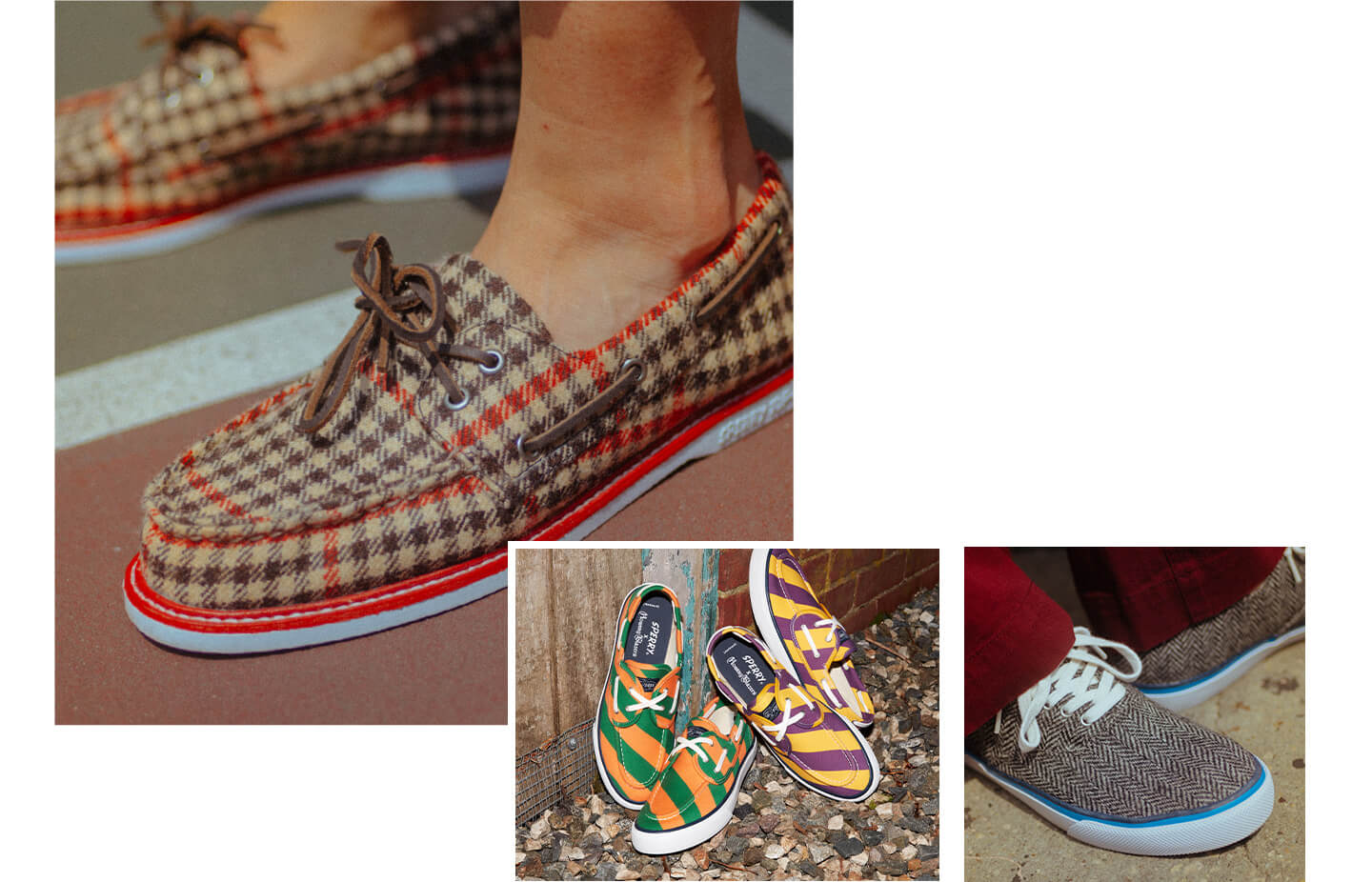 Collage of shoes from the Rowing Blazers collection.