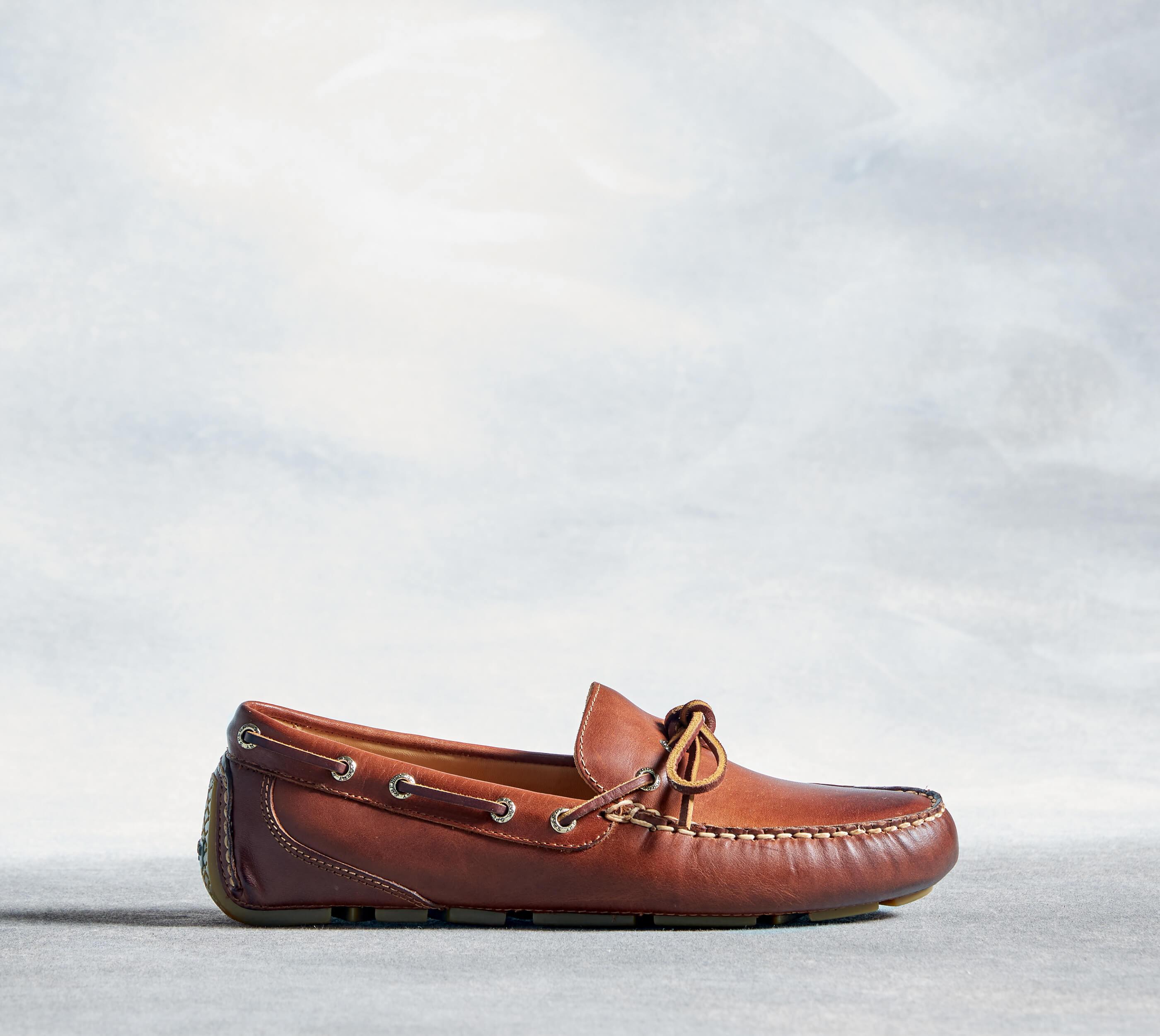 Brown loafer.