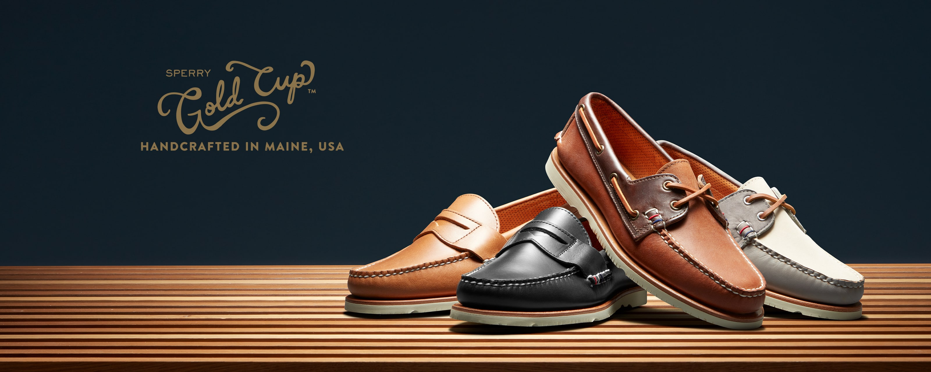 Sperry Gold Cup.  Handcrafted in Maine, USA.