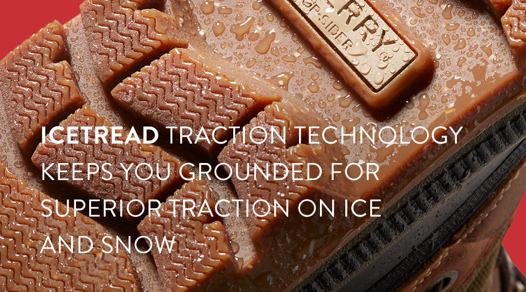 Icethread traction technology keeps you gronded for superior traction on ice and snow.
