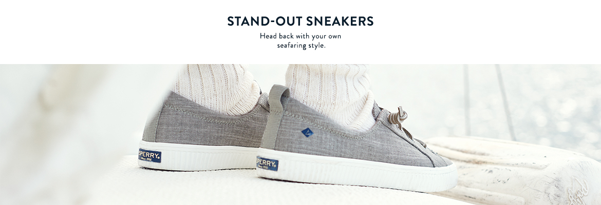 Crest Creeper.  Stand Out Sneakers.  Head back with your own seafaring style.