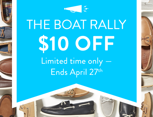 The Boat Rally. $10 Off. Limited time only - ends April 27th.
