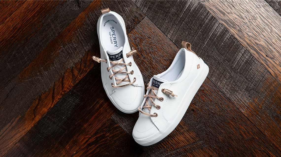 A pair of Sperry Girls Sneakers