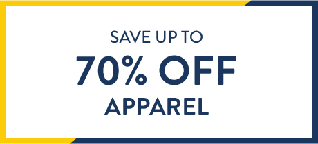Save up to 70% off apparel