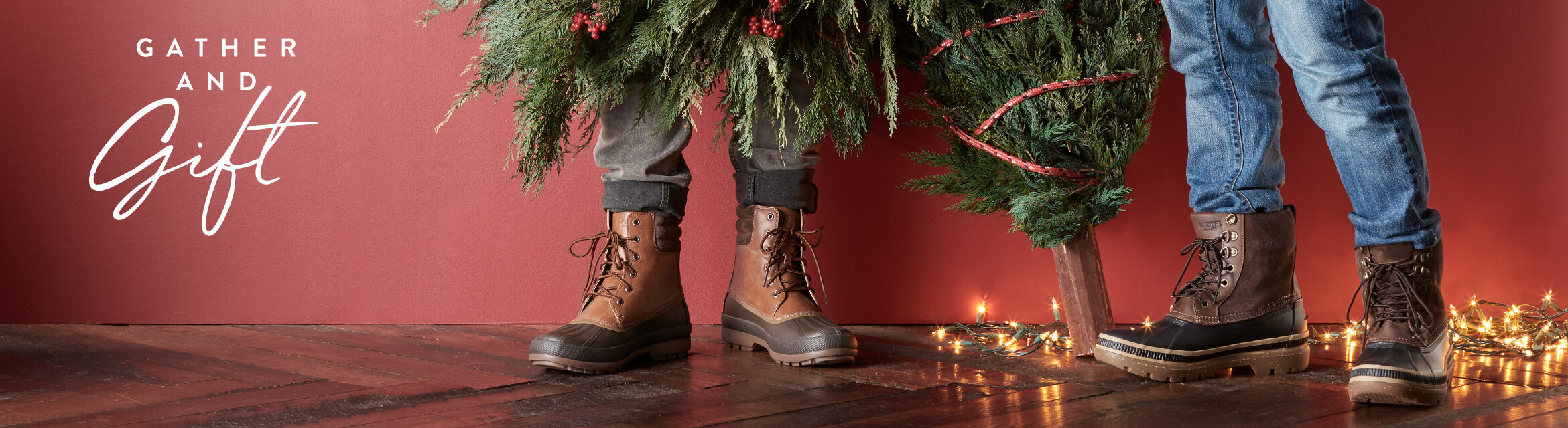 People wearing Duck Boots are decking the halls.