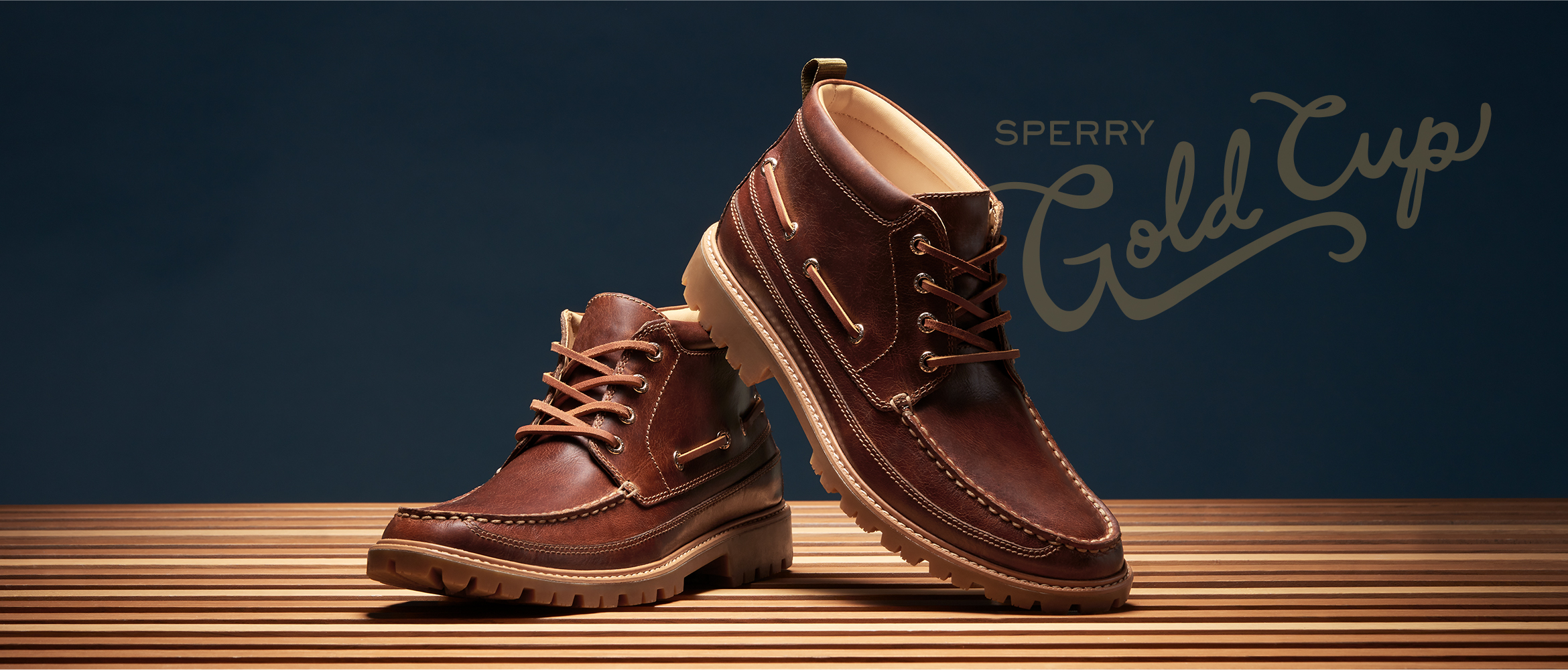 Sperry Gold Cup shoes.