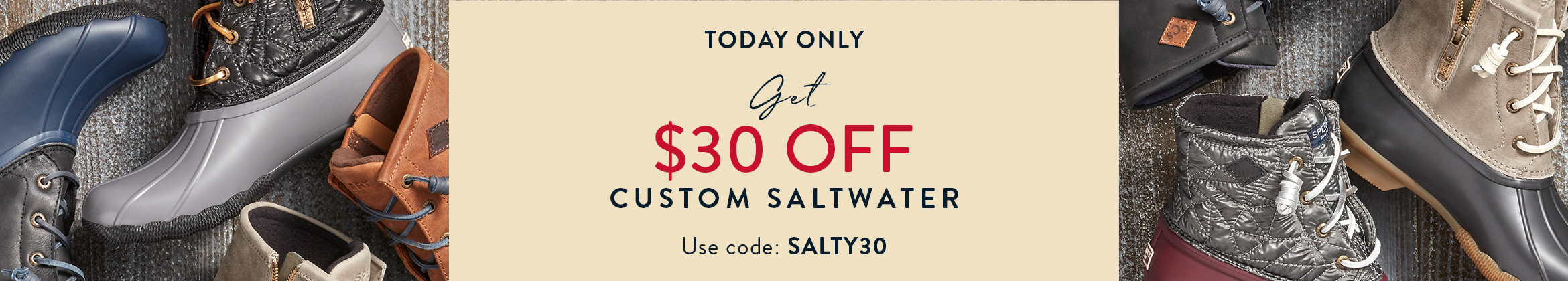 Today only: Get $30 Off Custom Saltwater Boots. Use Code: SALTY30