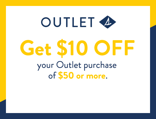 Take $10 off $50 or more on outlet styles. Must use code OUTLET10 at checkout.