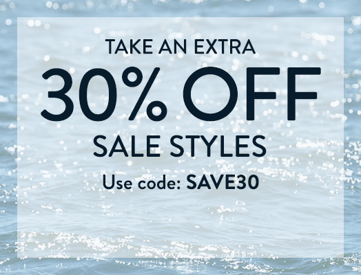 Take an extra 30% off sale styles.  Use code SAVE30.