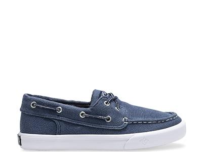 Blue Sperry Kids' Shoe.