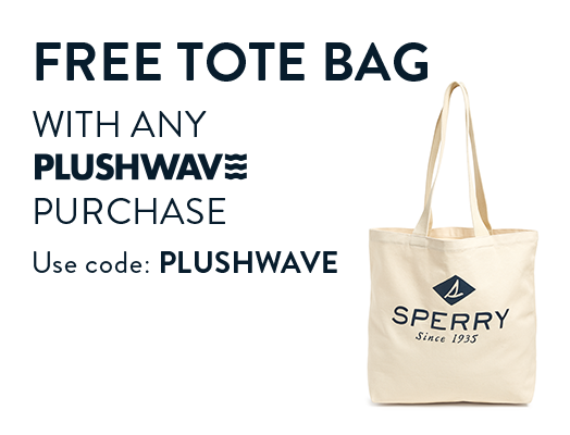Free Tote Bag with any Plushwave purchase. Use code: PLUSHWAVE