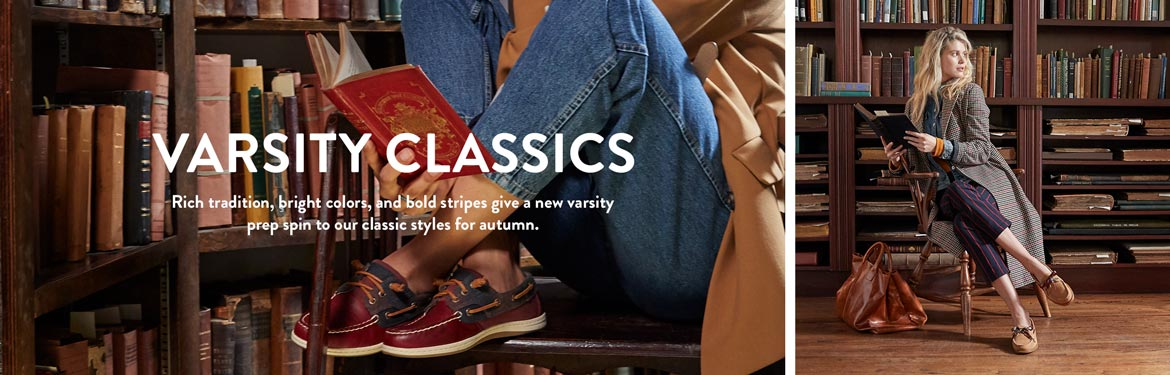 VARSITY CLASSICS | Rich tradition, bright colors, and bold stripes give a new varsity prep spin to our classic styles for autumn.