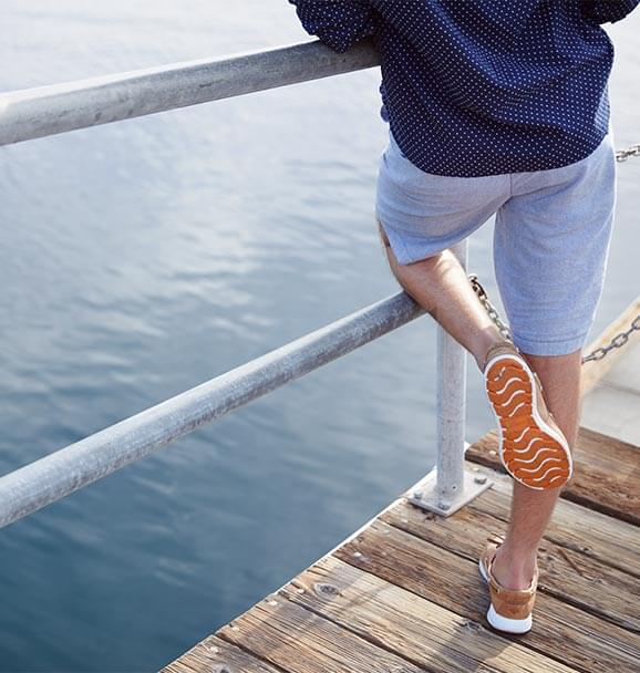e9677468f3e8a4 ... in the sneaker-inspired Paul Sperry Sojourn boat shoe and our Dobby  Print button down shirt. Keep your tools for adventure close at hand in the  Intrepid