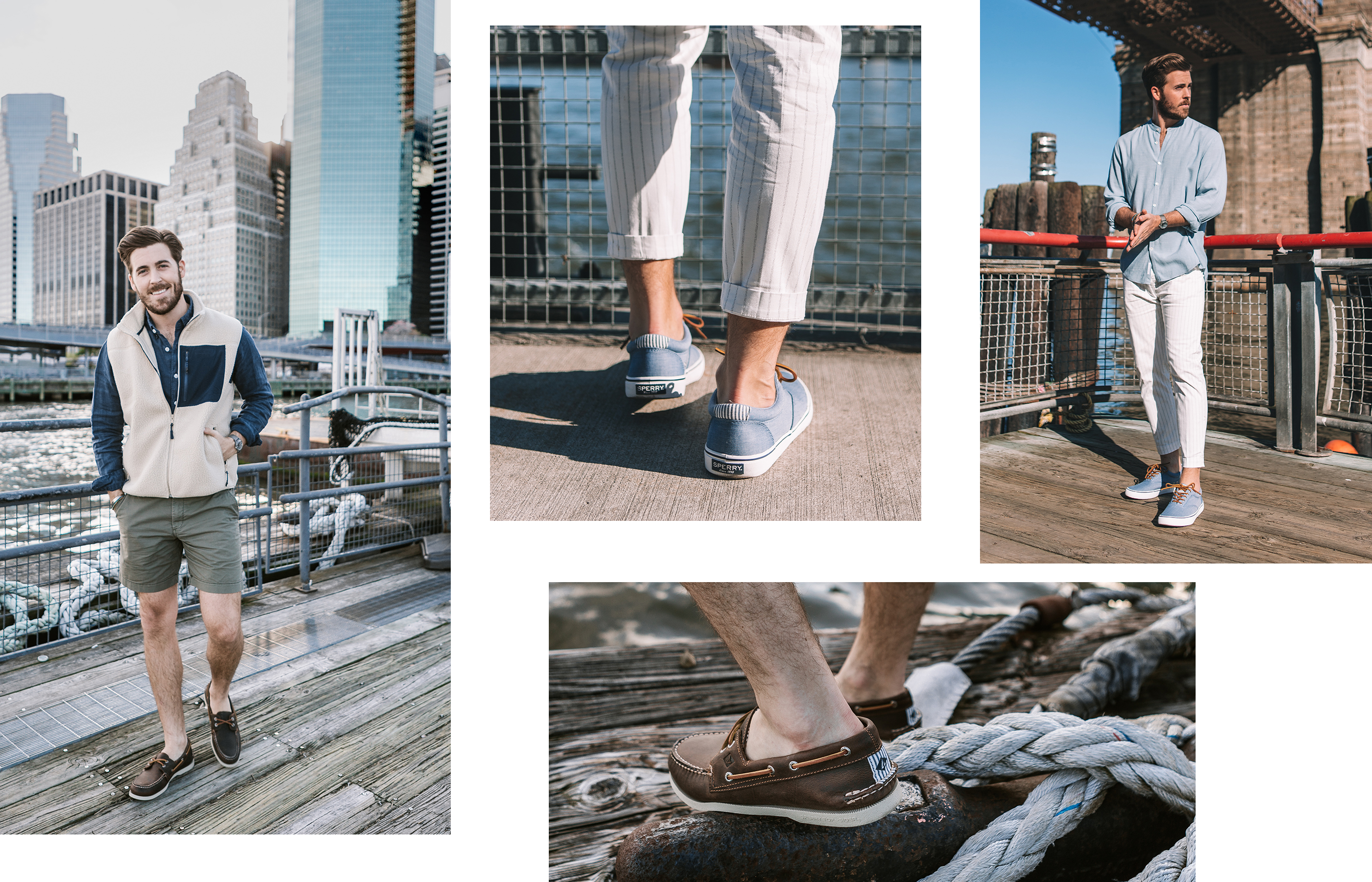 A gallery of Sperry Ambassador John Philip Thompson, wearing his favorite Sperry shoe styles.