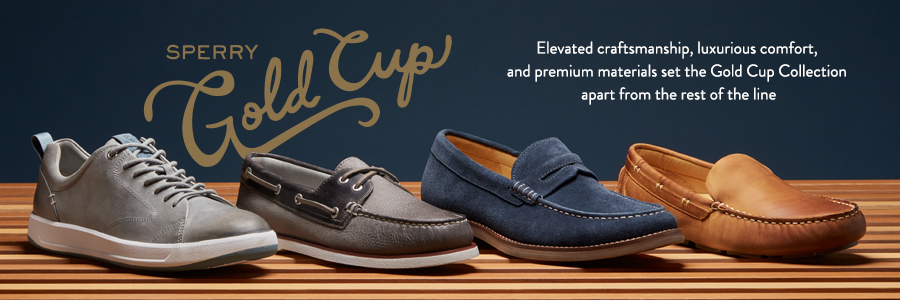 Sperry Gold Cup. Elevated craftsmanship, luxurious comfort, and premium materials set the Gold Cup Collection apart from the rest of the line.
