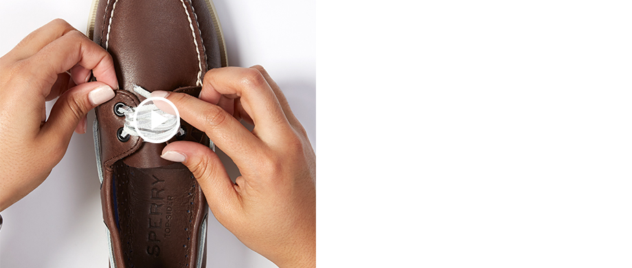 Sperry Lacing Guide - Fishtail Knot