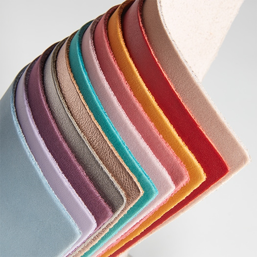 Various color leathers