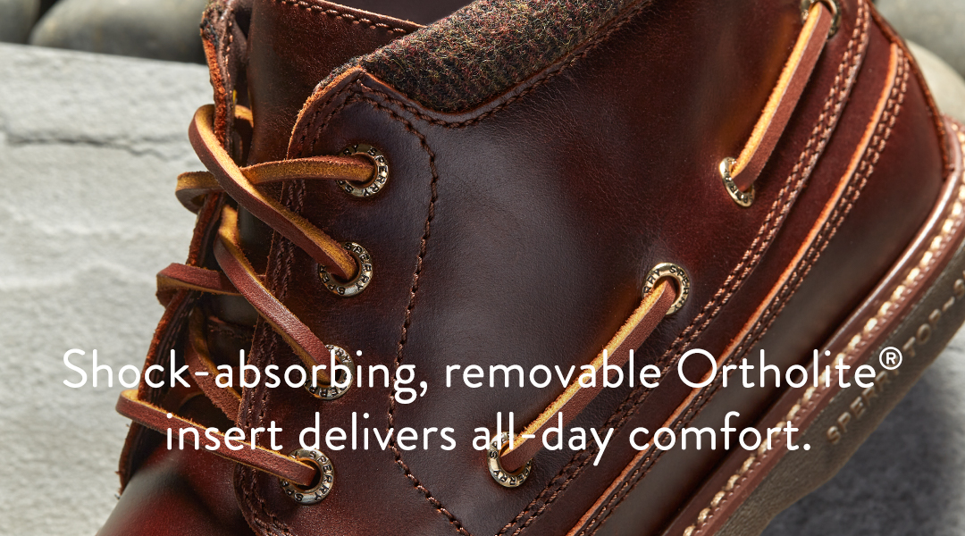 Shock-absorbing, removable Ortholite insert delivers all-day comfort.