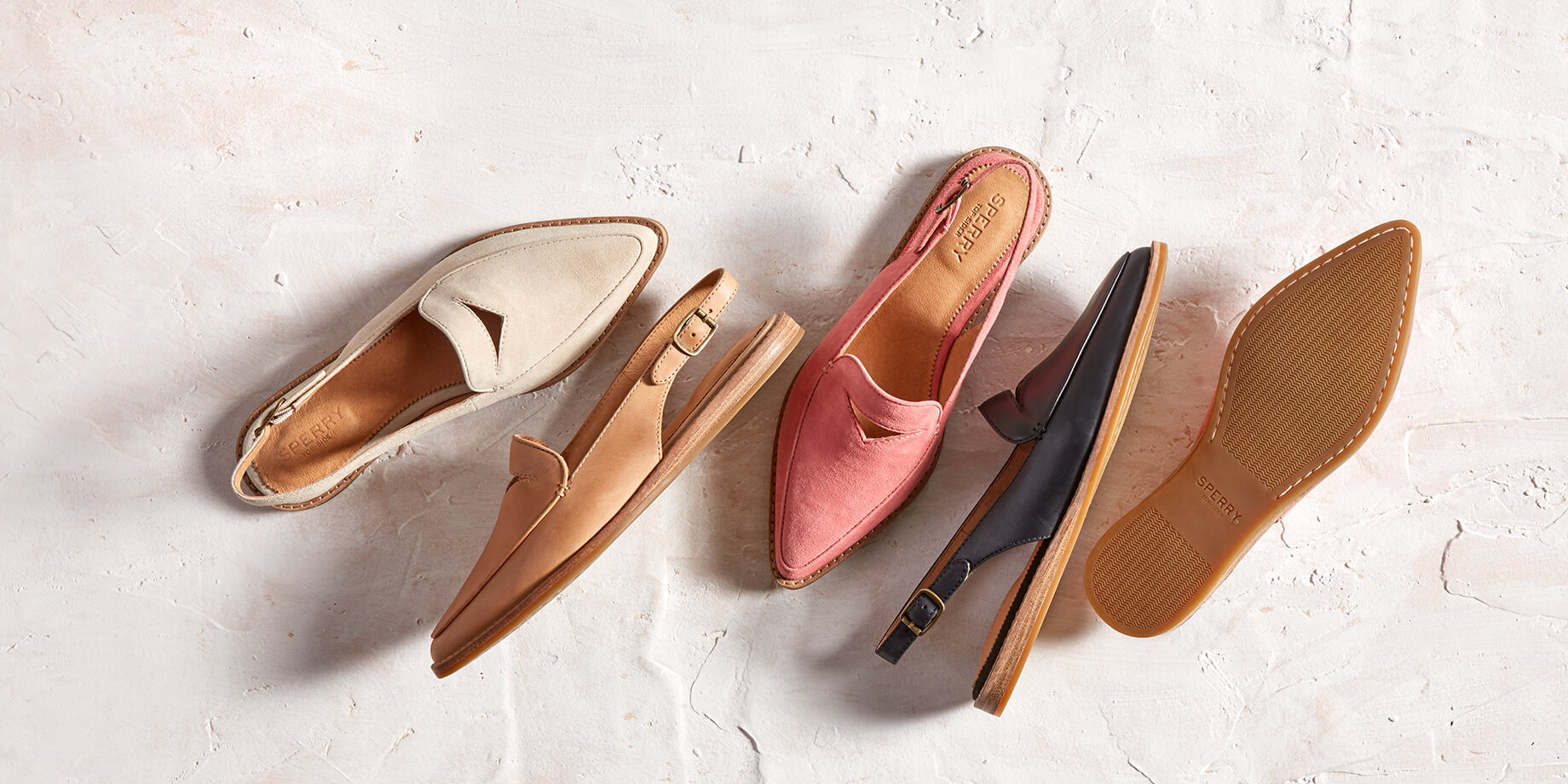 Saybrook Slingback in a variety of colors.