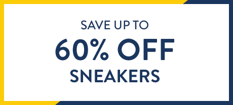 Save up to 60% off sneakers