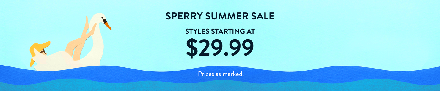 Sperry Summer Sale. Styles starting at $29.99. Prices as marked.