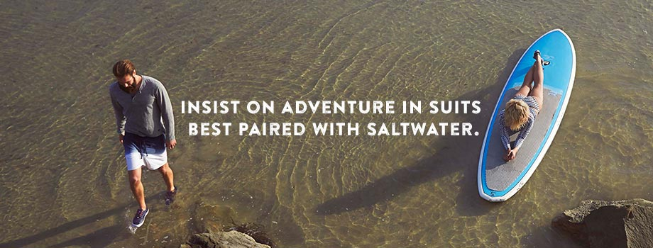 Insist On Adventure In Suits Best Paired With Saltwater.