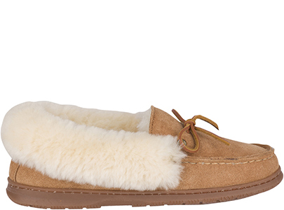 Suede and sheepskin slipper.