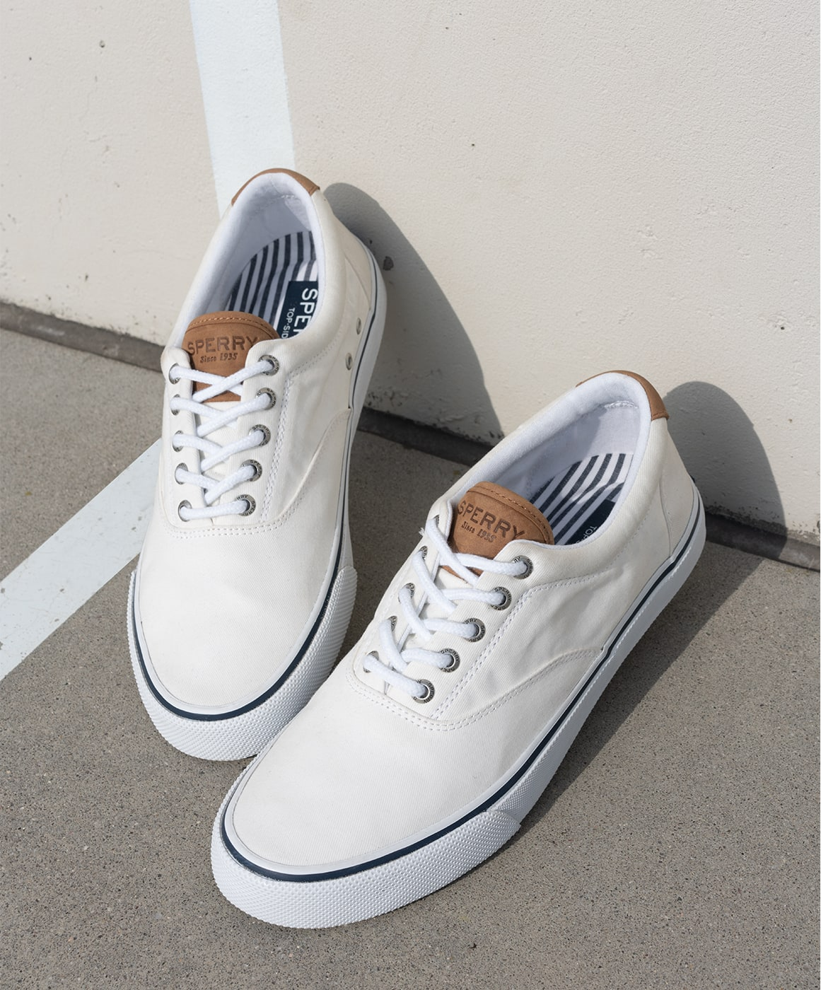 A pair of Sperry sneakers.
