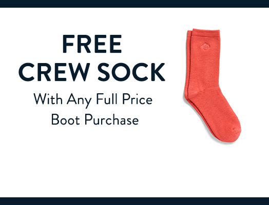 Free Crew Sock with code CREW4YOU