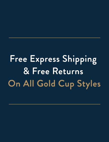 Free Express Shipping & Free Returns on All Gold Cup Styles