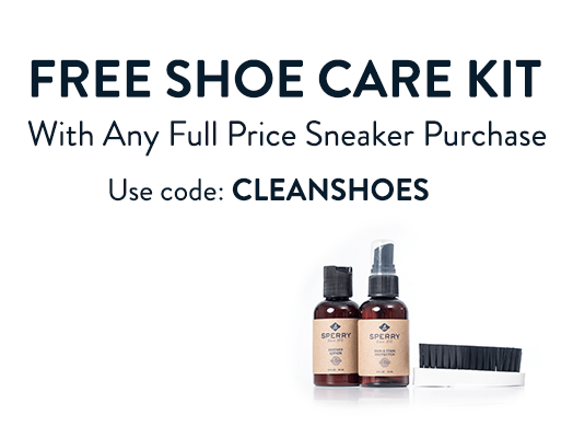 Free Shoe Care Kit with Any Full Price Sneaker Purchase. Use code: CLEANSHOES.