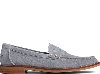Grey Sperry Loafer.