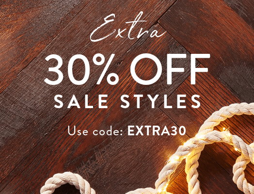 Extra 30% OFF Sale Styles. Use code: EXTRA30