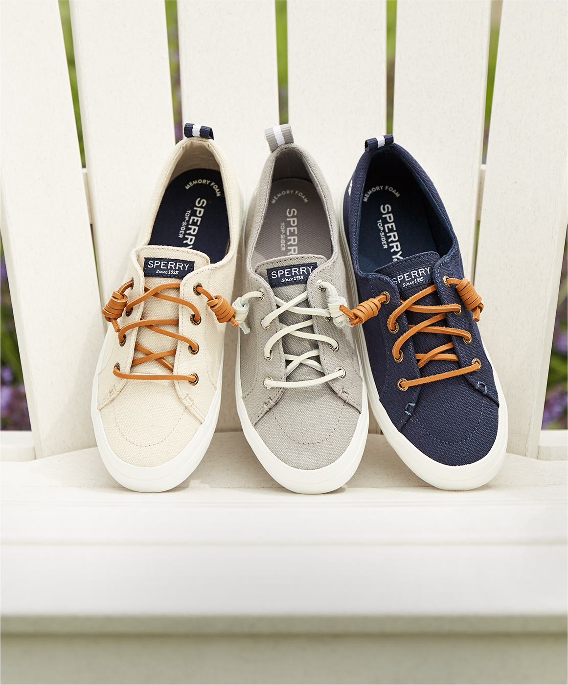 Sperry sneakers.