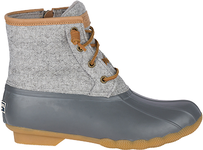 Grey and blue boot.