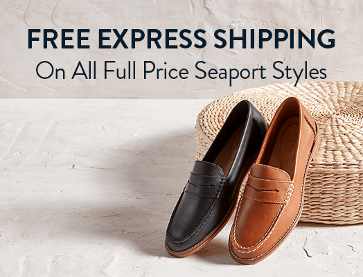 Free Express Shipping on all full price seaport styles.