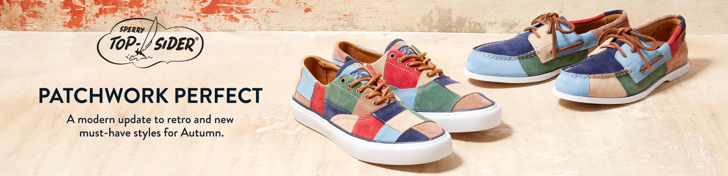 The Sperry Top Sider - Patchwork Perfect | A modern update to retro and new must-have styles for Autumn.