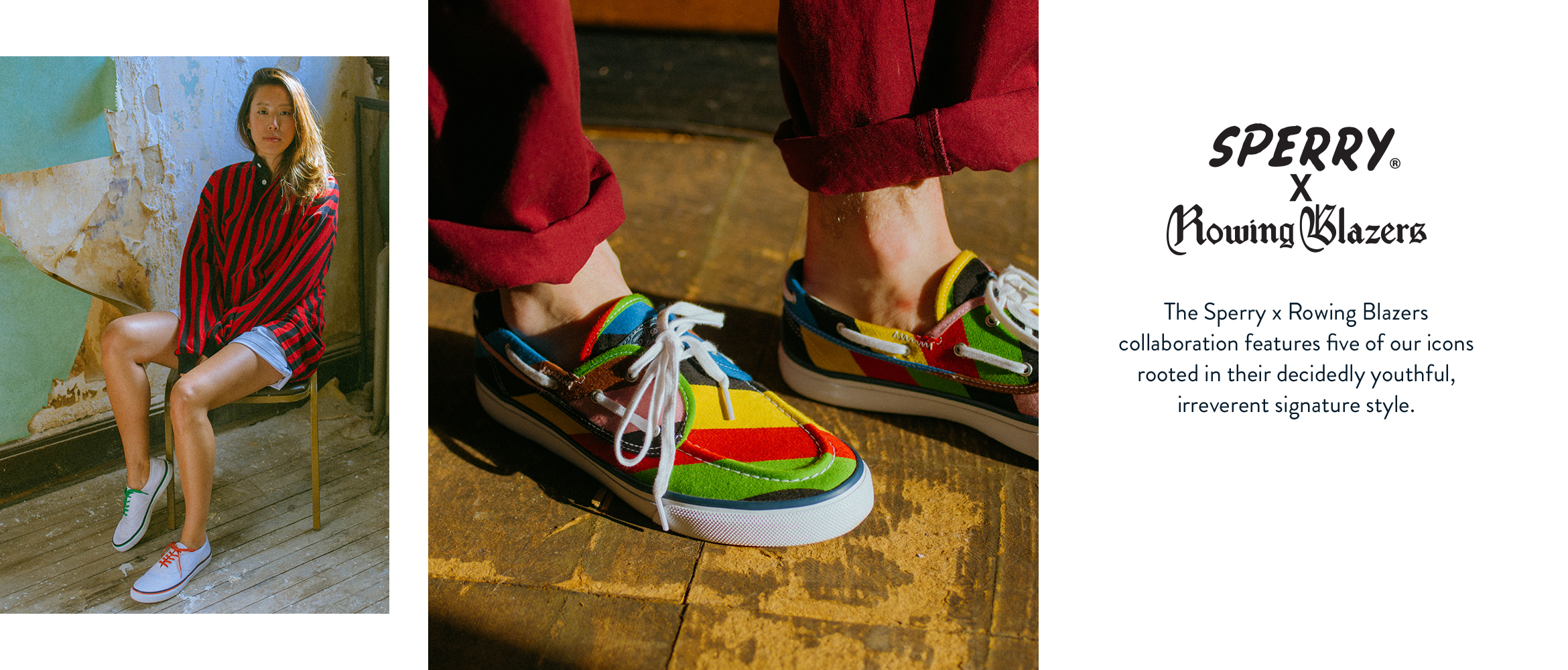 8ff296ab The Sperry x Rowing Blazers collaboration features five of our icons rooted  in their decidedly youthful Shop ...