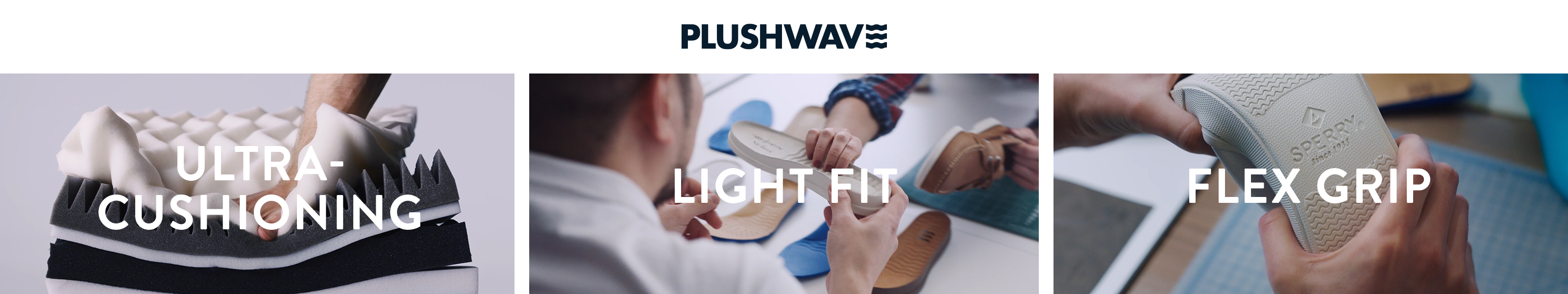 Plushwave - ultra-cushioning, light fit, flex grip